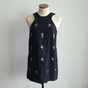 Topshop Black Beaded Dress